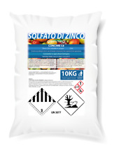 SOLFATO DI ZINCO EPTAIDRATO agricoltura biologica catalizzatore CLOROFILLA 10 KG