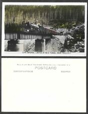 Old Canada Real Photo Postcard - Field, British Columbia - Railroad Train