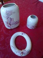 Vase, Bilderrahmen, Porzellan Made in GDR  3 teiliges Set,, Rarität,,