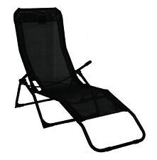 Rocker Lounger Black Sun Chair Recliner Outdoor Garden Furniture Folding Chair