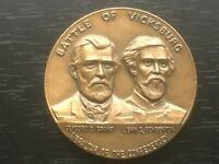 Vintage CIVIL WAR Vicksburg Centennial  Medallion Coin GRANT &  PEMBERTON