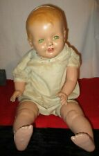 """Large Antique Composition Baby Doll- 24"""" - cloth body- needs Tlc"""