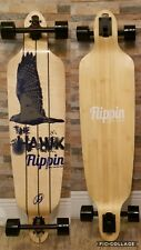 Brand New Flippinboard co Drop down Drop through Longboard complete the Hawk