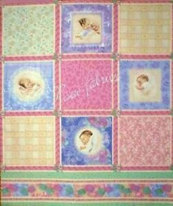 Bessie Pease Fabric Victorian Baby Cotton Qult Blocks - 4 pack of FQ = 1 yard