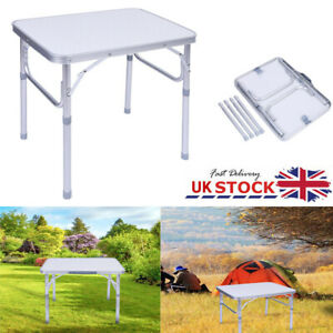 Portable Duty Folding Aluminum Table Carry Catering Camping Trestle Market BBQ