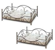 "2 Iron srcoll metal frame PRINCESS Dog Cat Pet Bed pad Furniture small 28"" x 20"""