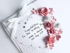 Handmade Personalised Wedding Day card ,Birthday,Engagement,Anniversary,Roses