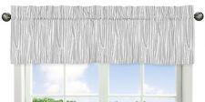 Wood Grain Print Window Valance Curtain For Sweet Jojo Coral Woodsy Girl Bedding