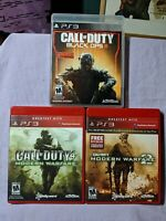 Call of Duty PS 3 Video Game Lot Modern Warfare / Modern Warfare 2 / Black Ops 3