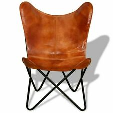 Handmade Leather Butterfly Chair Leather Industrial retro occasional Chair
