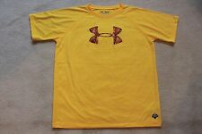 Under Armour boys loose heat gear yellow, copper top size youth extra large NWOT