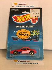 #4  Fiero 2M4 1458 * RED * 1986 Malaysia * Vintage Hot Wheels * E31