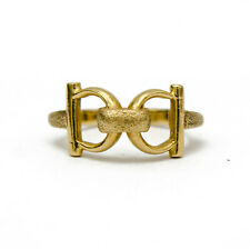 VINTAGE 14k Yellow Gold Buckle Ring
