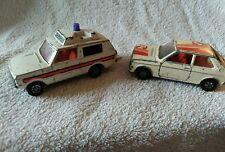 DIECAST MODEL CARS X2 VILGIANT RANGE ROVER POLICE CORGI WHIZZ WHEELS/TALBOT?