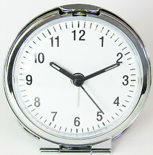 Widdop Bold Round Metal Folding Travel Alarm Clock 9587 (Battery Included)