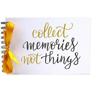 Ribbon, Collect Memories Things, Photo Album, Scrapbook, Blank White Pages, A5