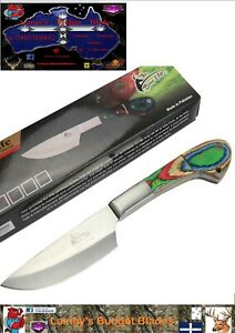 "TheBoneEdge 9"" Chef's Choice Kitchen Knife Packawood Handle Steel Blade Full Tan"