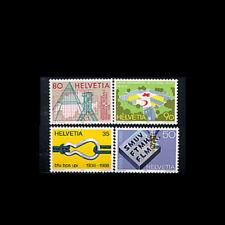 Switzerland, Sc #824-27, MNH, 1988, Red Cross, Triangulation pyramid, Map, CA96F