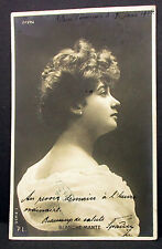 Blanche Mante Theater Oper Paris Pilsen 1904 - Foto Autogramm-AK (Lot-H-5439