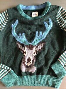 Mini boden Cozy Deer Sweater Sz 3-4