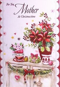 MOTHER CHRISTMAS CARD ~ Traditional Classic Christmas Decorations