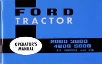 OEM Maintenance Owner's Manual Ford Tractor 2000/3000/4000/5000 1965-1975