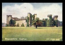 RAILWAY GNR Great Northern official Castle Series Durham Brancepeth 1908 PPC