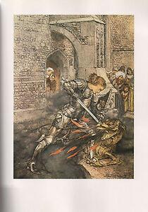 Arthur Rackham Print  - The Romance of King Arthur