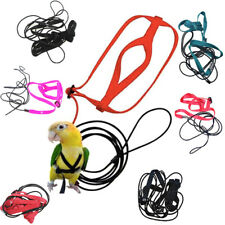 Pet Parrot Bird Harness Lead Leash Flying Training Rope Cockatiel Outdo^