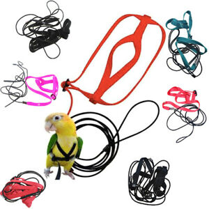 Pet Parrot Bird Harness Lead Leash Flying Training Rope Cockatiel OutdoorB Dh