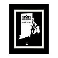 Rhode Island State 3 (BLACK) - Matted for 11x14 Frame