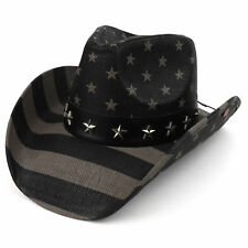 02b95b2c4 USA BLACK FLAG COWBOY STRAW HAT
