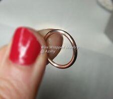 Navel Belly Ring * 14k ROSE PINK GOLD FILLED * 14 gauge HOOP Septum
