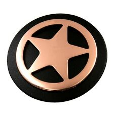 "Western Cowboy Decor Bright Copper Star 1 1/2"" Black Iron Concho"