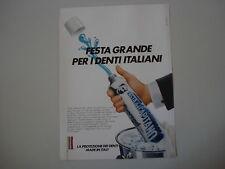 advertising Pubblicità 1986 DENTIFRICIO PASTA DEL CAPITANO