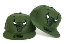 New Era Olive Green Chicago Bulls snapback hat Jordan 6 Pinnacle