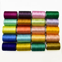 Art Silk Thread for Embroidery Craft and Jewelry Bangles Jhumka Making 10 Roll
