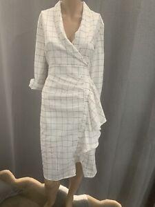 Willa Black & White Blazer Dress - Size 14