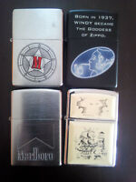 LOT ZIPPO MARLBORO MARSHALL RED M STAR Scrimshaw and other COLLECTIBLE