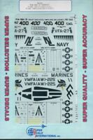 SuperScale Decals 1:48 F/A-18A/D Hornet VFA27 CAG USN,VMFA AW-225 USMC #48-502