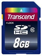 Transcend 8 GB SD SDHC Class 10 Memory Card + Memory Card Wallet