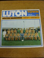 21/03/1978 Luton Town v Bolton Wanderers  (Excellent Condition)