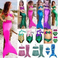 infantil Cola De Sirena Nadar Set De Bikini Verano Playa Bañador Disfraces 2