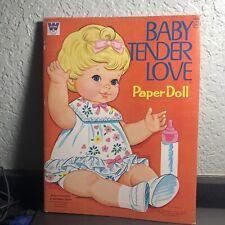 "VINTAGE 1971 WHITMAN PAPER DOLL BOOK ""MATTEL ""BABY TENDER LOVE"" UNCUT"