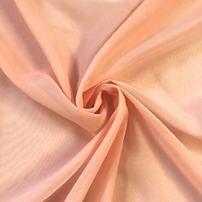 Polyester Dress Sheer Fabric By the Yard Solid Chiffon Peach Fabric By the Yard