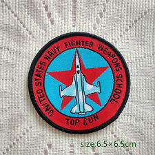 US Navy Fichter Weapons School Top Gun Squadron Sew On Patch Free Ship