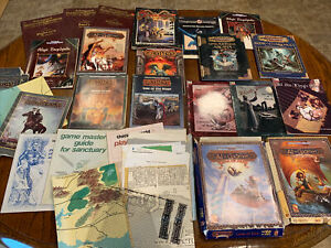 Dungeons & Dragons Lot Campaign Set Advanced D & D Hardback Maps Encyclopedia