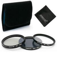 49mm UV ND4 CPL Polarizing Lens Filter Kit For Canon Nikon Sony Sigma Tamron