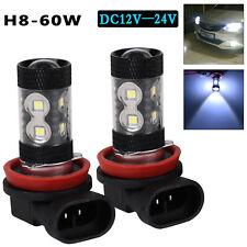 2x H8 H11 6000K White 60W High Powers CREE Fog Light LED Drivings Bulbs DRL UK