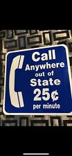 "Original Vintage 18"" Double Sided Phone Sign"